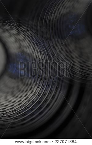 Old Movie 8mm Film Strip Mm On Black Background