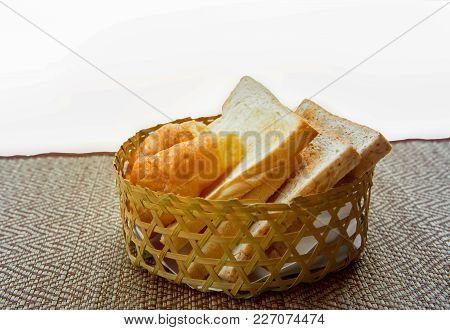 Bread. Bread Slice. Bread White. Bread On Wood. Bread On Table. Bread Background. Bread For Breakfas