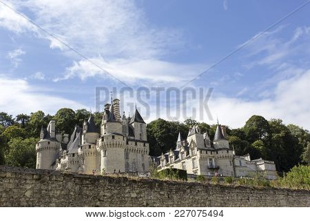 Usse, France - August 11, 2016: Usse Castle In Loire Valley, Rigny-usse, France. Known As The Sleepi