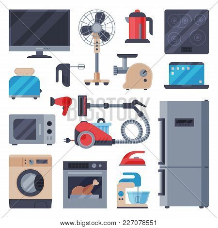 Home Appliances Domestic Vector Household Equipment Kitchen Electrical Domestic Appliances Technolog