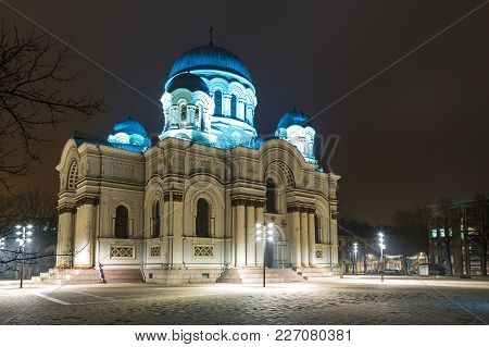Saint Michael The Archangel's Church Or The Garrison Church At Night