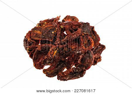 Sun-dried Sweet Tomatoes Isolate On White Background.