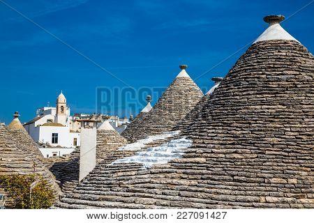 Rooftops Of Trulli Houses - Alberobello, Apulia Region, Italy, Europe