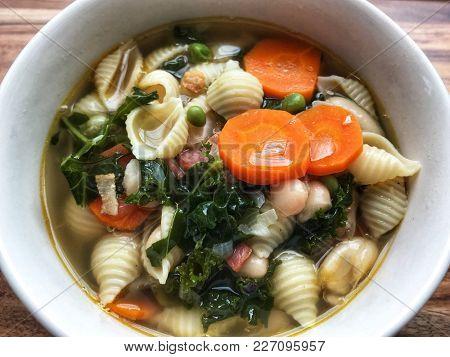 Winter soup close up