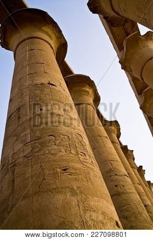 Columns At The Ancient Luxor Temple, Egypt
