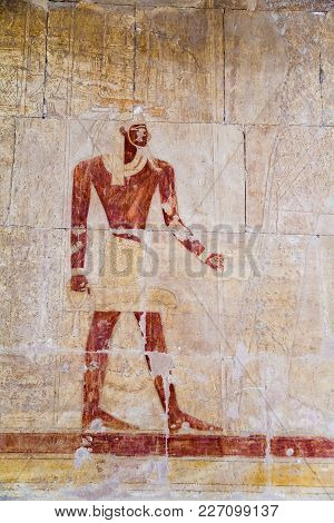 Reliefs On The Walls Of The Temple Of Hatshepsut, Egypt