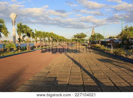 Baywalk Of Puerto Princesa City. Palawan Island. Philippines.