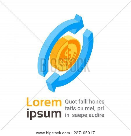 Money Exchange Icon Currency Transfer Logo 3d Isolated Vector Illustration