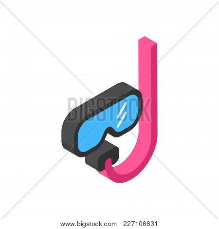 Diving Mask Icon Isometric Isolated Tourism And Travel Concept Vector Illustration
