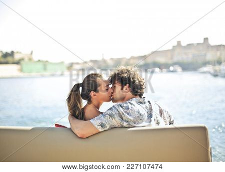 Kissing on vacation