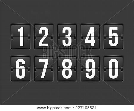 Countdown Timer, White Color Mechanical Scoreboard With Different Numbers