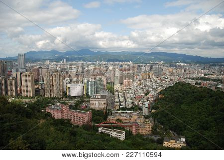 View From Elephant Mountain To Taipei, The Capital City Of Taiwan