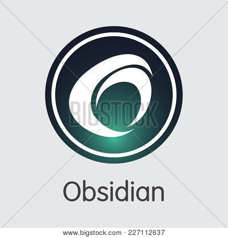 Obsidian: Blockchain Web Icon. Blockchain, Block Distribution Odn Transaction Icon