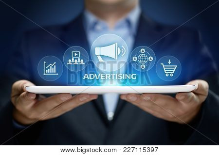 Advertising Marketing Plan Branding Business Technology Concept.