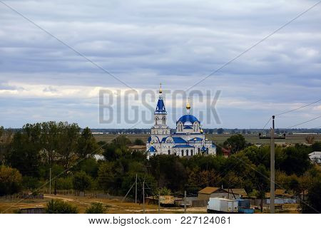 Old Rural Orthodox Church In The South Of Russia. Astrakhan Region, Russia.