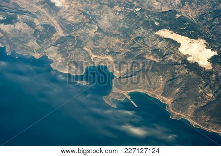 The View From The Window Of The Plane To The Island Of Cyprus.