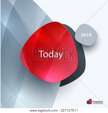 Abstract Vector Design Elements For Graphic Template. Creative Modern Business Background. Red Round