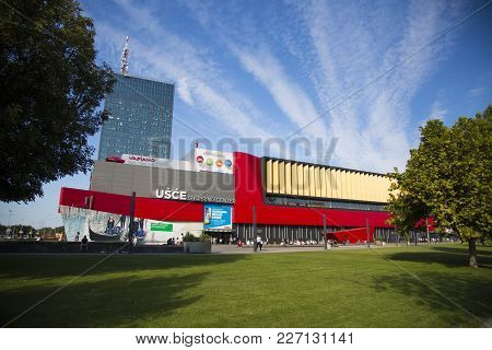Belgrade, Serbia - August 28, 2014: View At Usce Shopping Mall In Belgrade, Serbia. It Is The Bigges