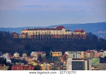 The Icon Of The Brno City's Castles Spilberk. Czech Republic- Europe. Hdr - Photo.