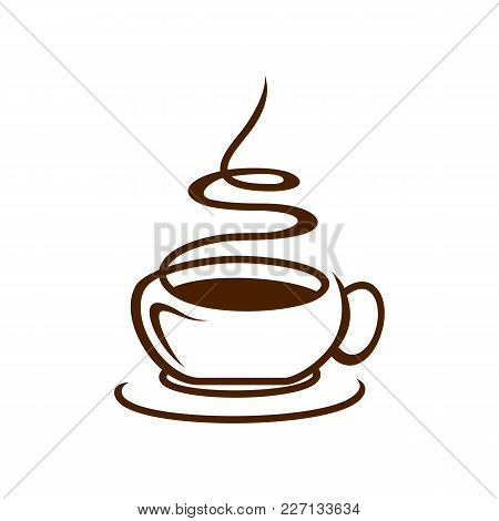 Coffee Shop Logo Vector Illustration. Espresso Coffee Icon Symbol. Espresso Coffee Sign. Coffee Shop