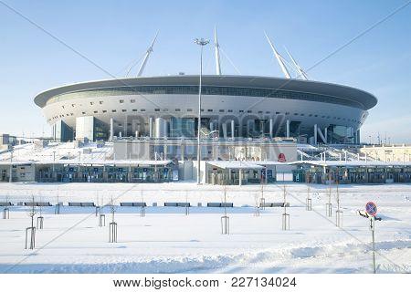 Saint Petersburg, Russia - February 08, 2018: New Modern Stadium