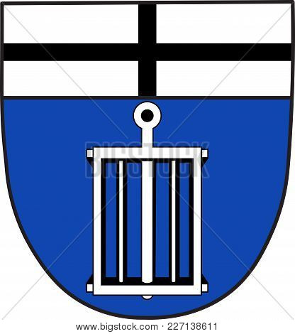 Coat Of Arms Of Hardtberg Is A Municipal District Of Bonn In North Rhine-westphalia In Germany. Vect