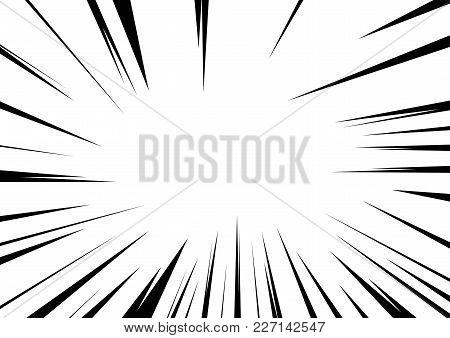 Sharp Edge Vintage Comic Style Black And White Frame Overlay. Vector Illustration