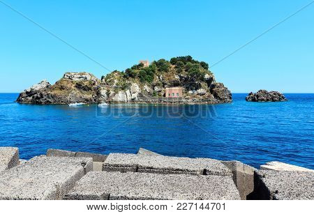Cyclopean Coast And The Islands Of The Cyclops On Aci Trezza Town (italy, Sicily,10 Km North Of Cata