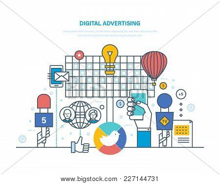 Digital Advertising, Targeted Interactive Content Marketing, Media Planning, Company Brand Promotion