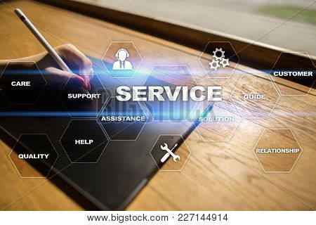 Customer Service And Relationship Concept. Business Concept