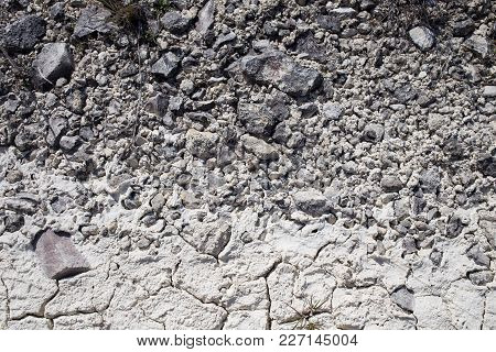 Dry Limestone Soil Texture. Can Be Used As Wallpaper For A Monitor.