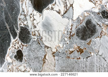 White And Black Marble Abstract Background Pattern. High Resolution Photo.