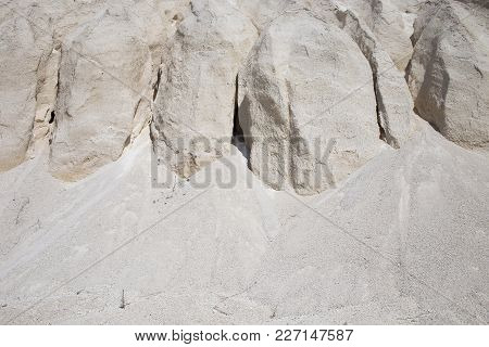 White Limestone Minerals. Can Be Used As Wallpaper For A Monitor.