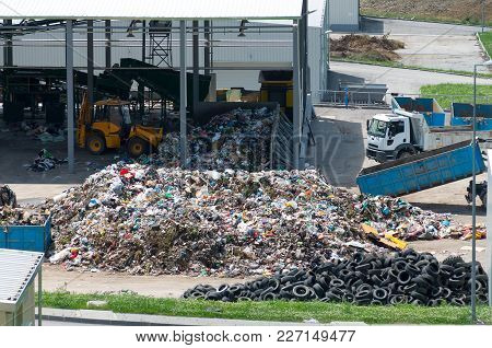 Urban Landfill Built With Eu Funding. Program Environment . Waste Treatment Plant Depot, Preparing I