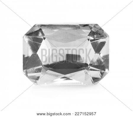 Precious jewel on white background