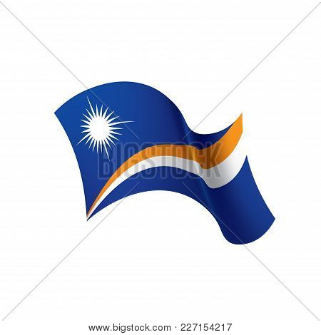 Marshall Islands Flag, Vector Illustration On A White Background