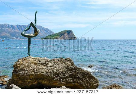 Budva, Montenegro - September 7, 2017: Sculpture