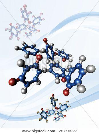 Taxol chemotherapy drug molecules