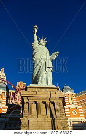 Las Vegas - October 09: New York-new York On The Las Vegas Strip On October 09, 2017 In Las Vegas, U