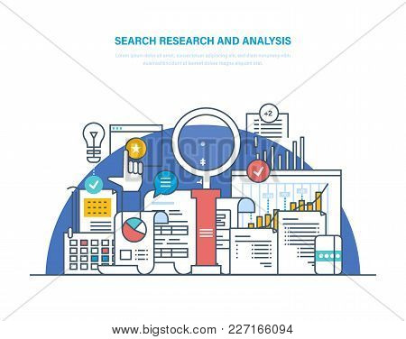 Search Research And Analysis. Problem Solving, Collecting Data, Data Analytics And Research, Statist