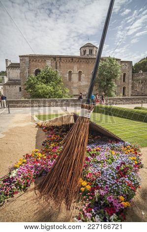 Girona,spain-may 12,2012: Artistic Installation With Flowers, Historic Center, Spring Festival Flowe