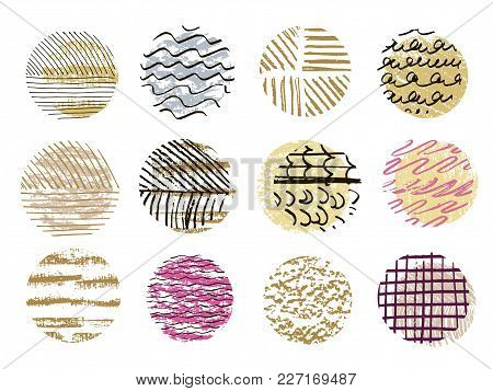 Big Set Of Vector Handdrawn  Texture.trendy Textures With A Jumble Of Lines, Zigzag,isolated.abstrac