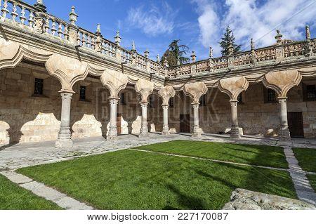 Salamanca,spain-november 21,2012:cloister Of University Of Salamanca, Castilla-leon, Spain.