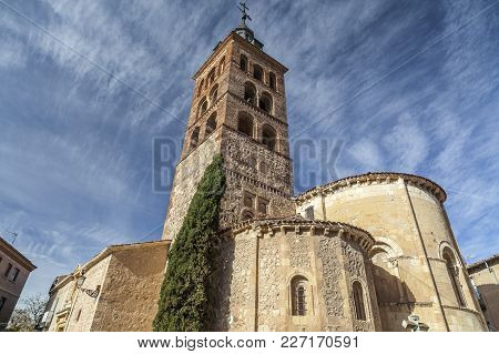 Segovia,spain-november 20,2012: Architecture, Religious Building, Church, Iglesia De San Andres, Rom