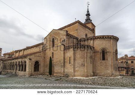 Segovia,spain-november 20,2012: Church, Iglesia De San Millan,romanesque Style, Segovia, Castilla-le