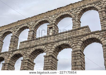 The Roman Aqueduct Of Segovia,castilla Y Leon,spain.