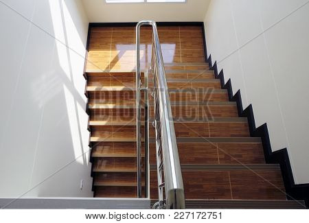 Abstract Stairs In Black And White, Abstract Steps