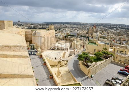 View Of Victoria On Gozo Island, Malta