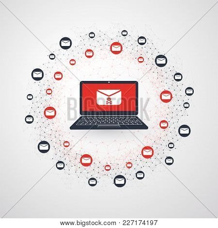 Network Vulnerability - Malware Infection By E-mail - Virus, Ransomware, Fraud, Spam, Phishing, Emai