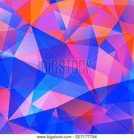 Abstract Triangle Colorful Bright Mosaic Background. Vector Illustration